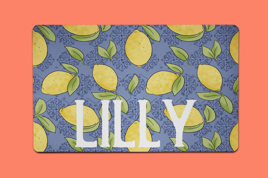 Lilly Lemon Placemat - The Dapper Paw