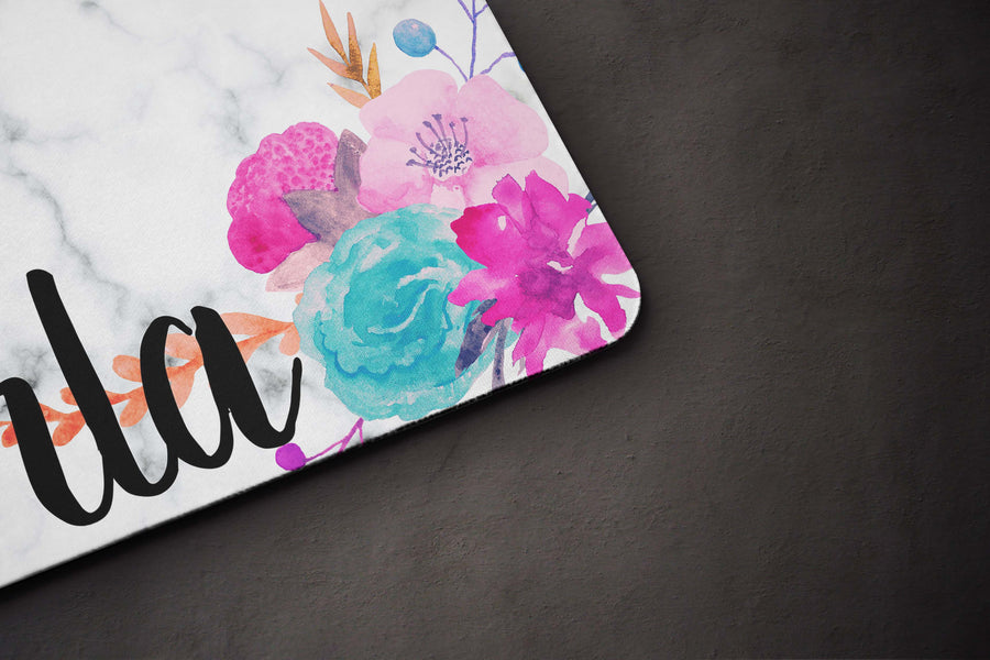 Marble Floral Placemat - The Dapper Paw