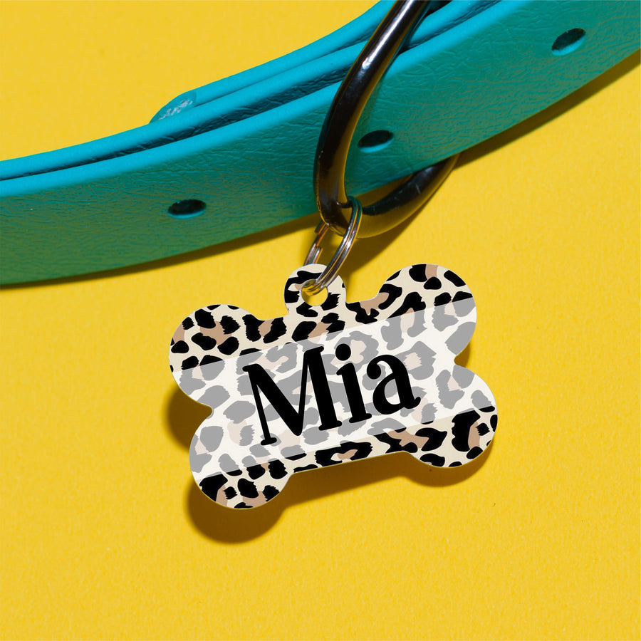 Mia Cheetah Pet ID Tag - The Dapper Paw