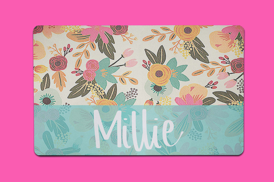 Millie Flowers Placemat - The Dapper Paw