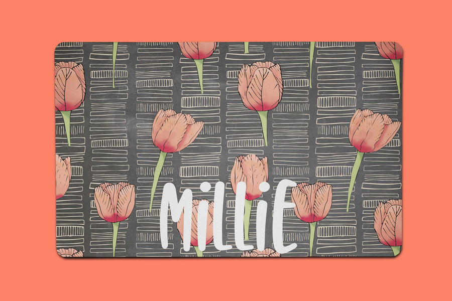Millie Tulips Placemat - The Dapper Paw