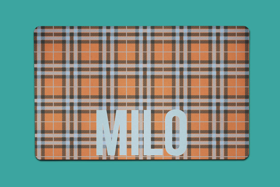 Milo Plaid Placemat - The Dapper Paw