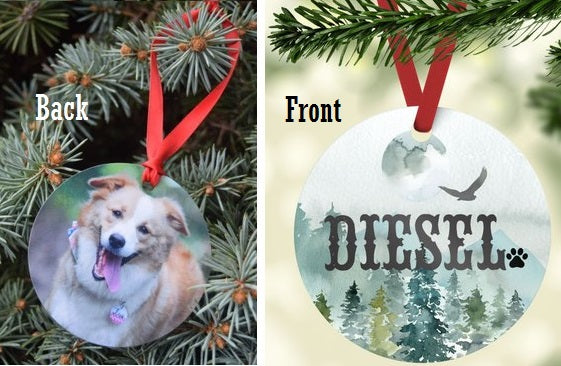 Mountain View Photo Ornament - The Dapper Paw