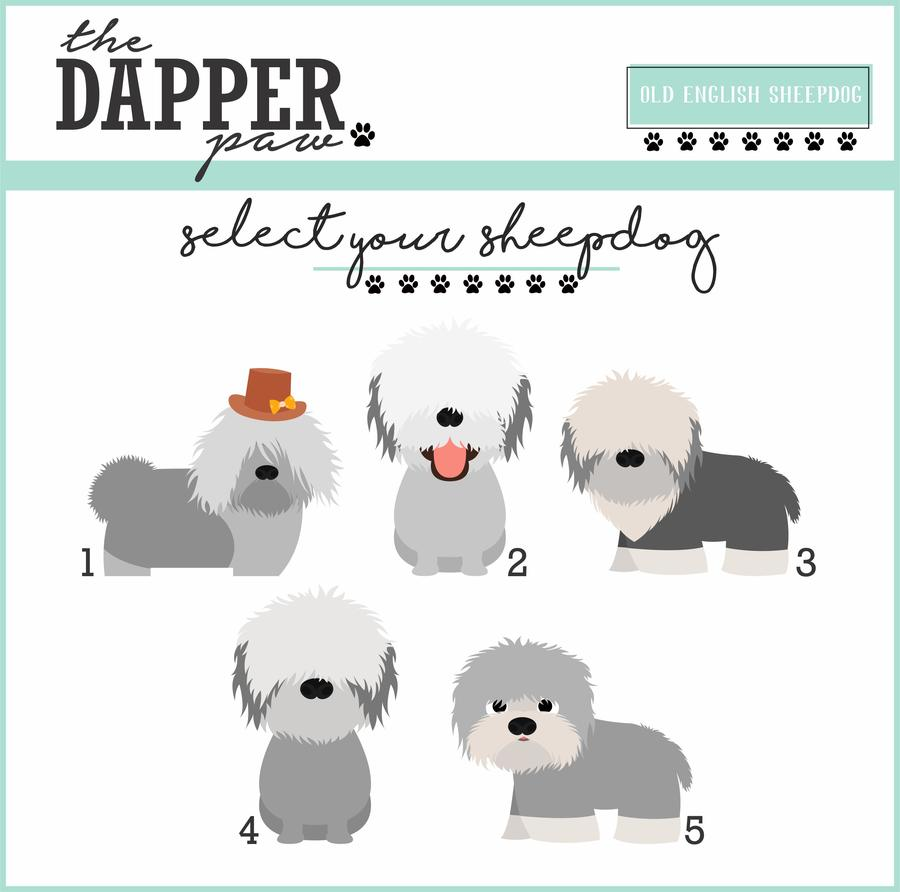 Old English Sheepdog Mouse Pad - The Dapper Paw