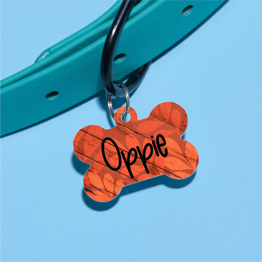 Oppie's Leaves Pet ID Tag