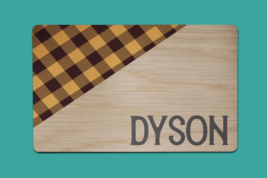 Orange Dyson Plaid Placemat - The Dapper Paw