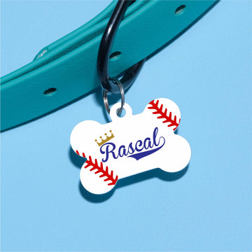 Baseball Pet ID Tag - The Dapper Paw