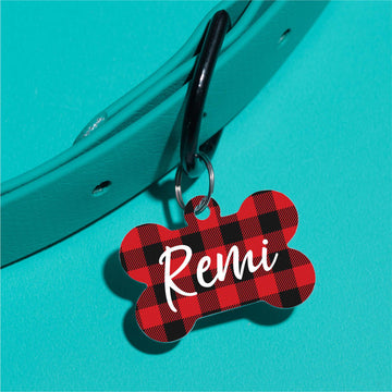 Buffalo Plaid (Large) Pet ID Tag - The Dapper Paw
