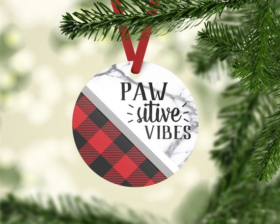 Pawsitive Vibes Photo Ornament - The Dapper Paw