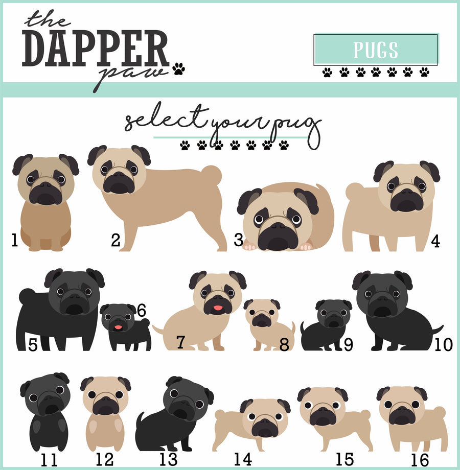 Pug Mug - The Dapper Paw