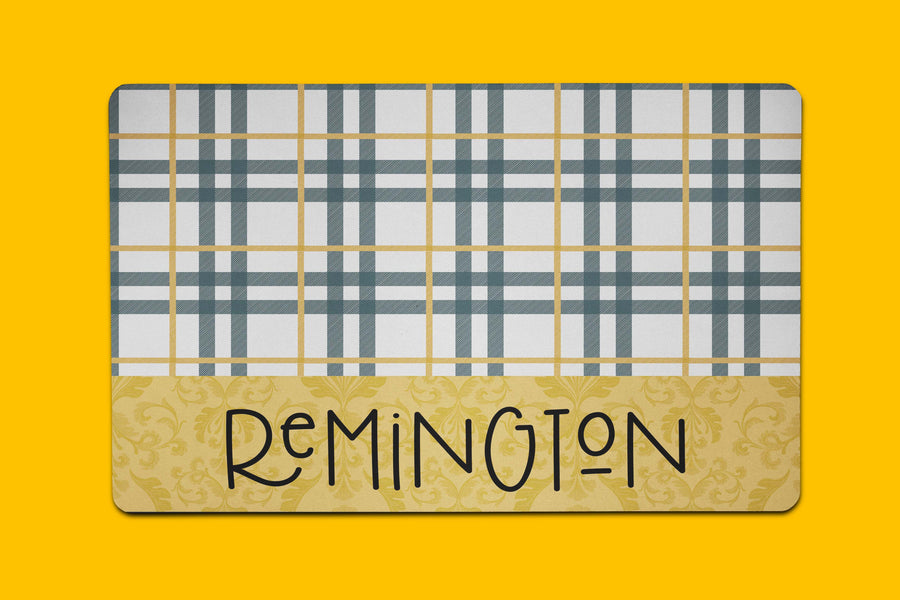 Remington Plaid Placemat - The Dapper Paw