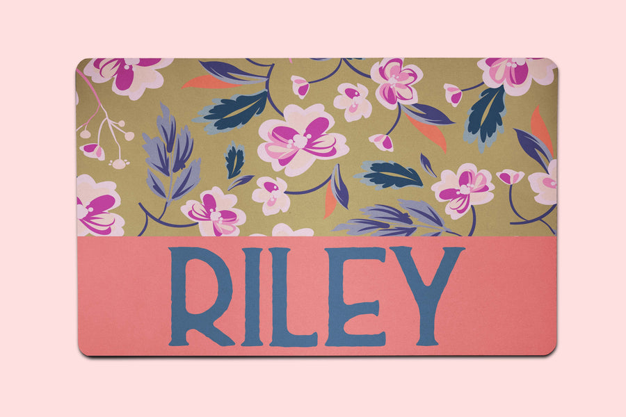 Riley Floral Placemat - The Dapper Paw