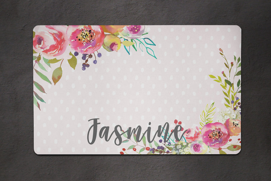 Rosie Floral Placemat - The Dapper Paw