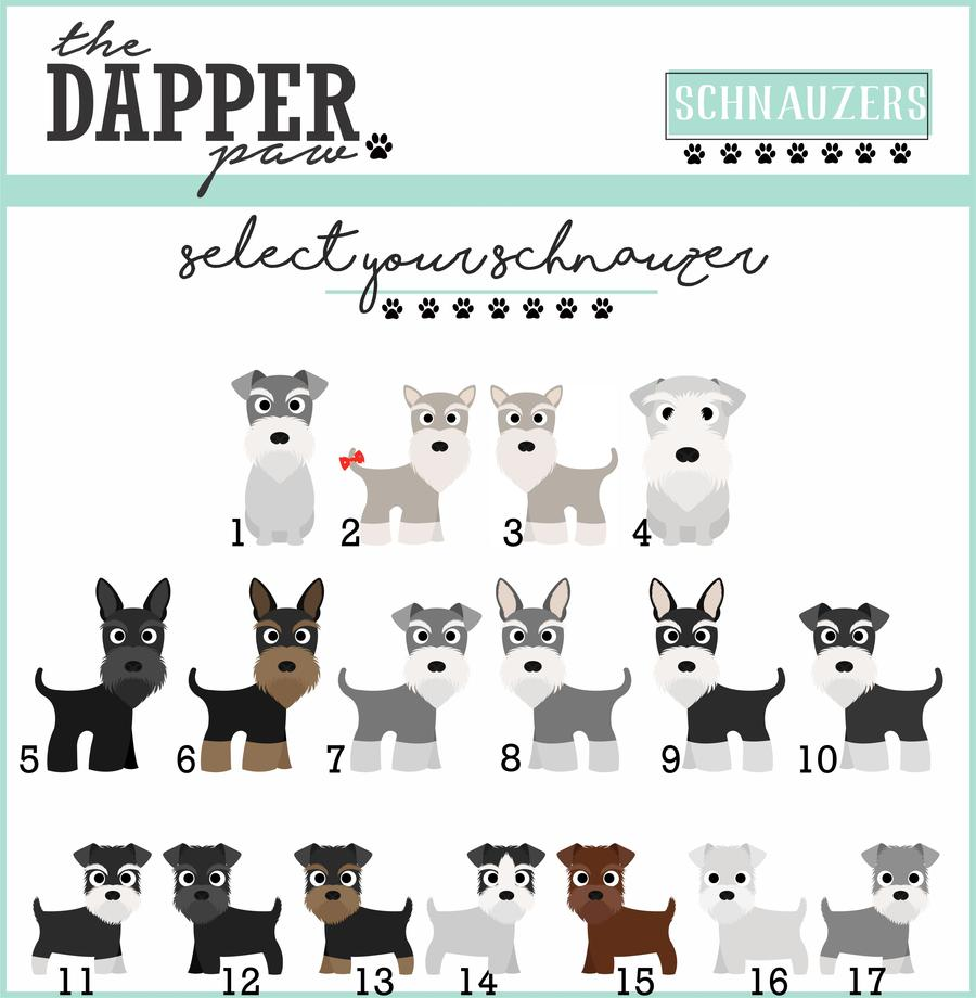 Schnauzer Mouse Pad - The Dapper Paw
