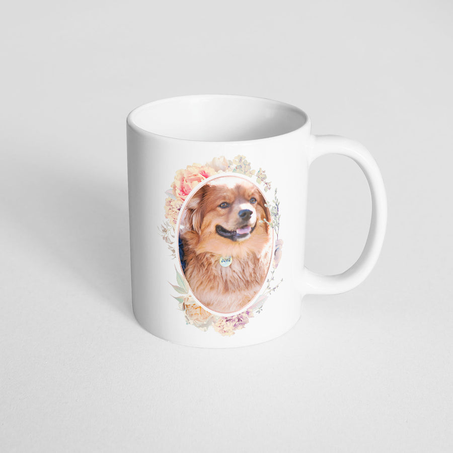 Photo Mug - Soft Floral Frames - The Dapper Paw
