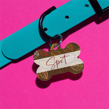 Spot's Leaves Pet ID Tag