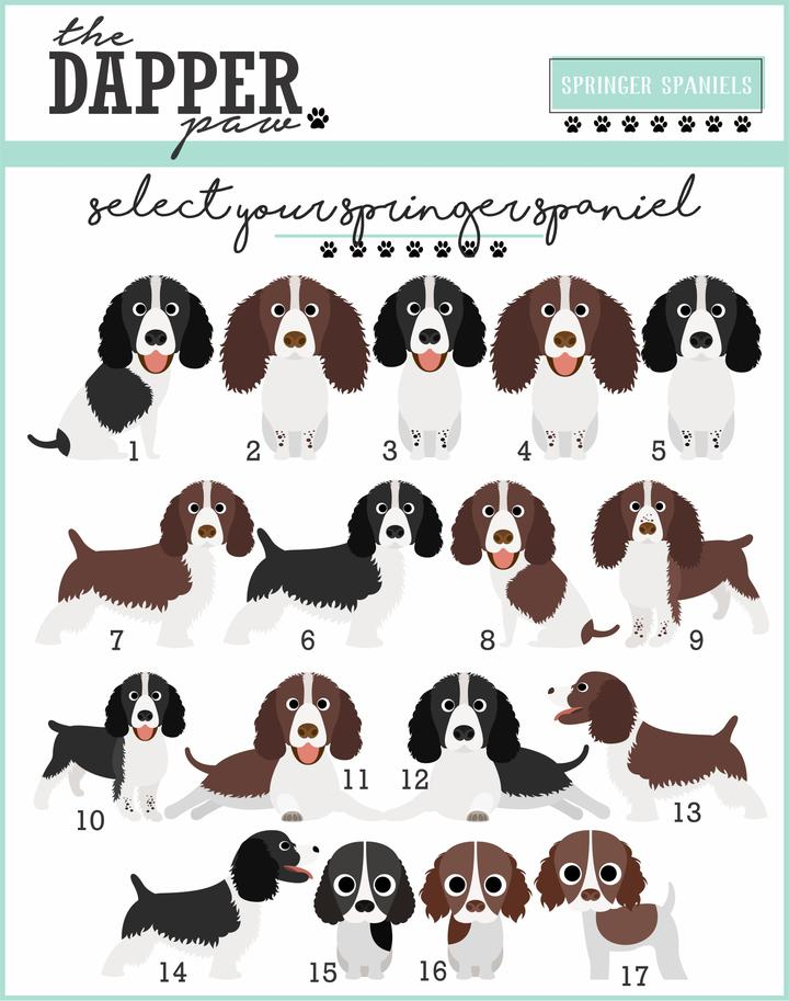 Springer Spaniel Mouse Pad - The Dapper Paw
