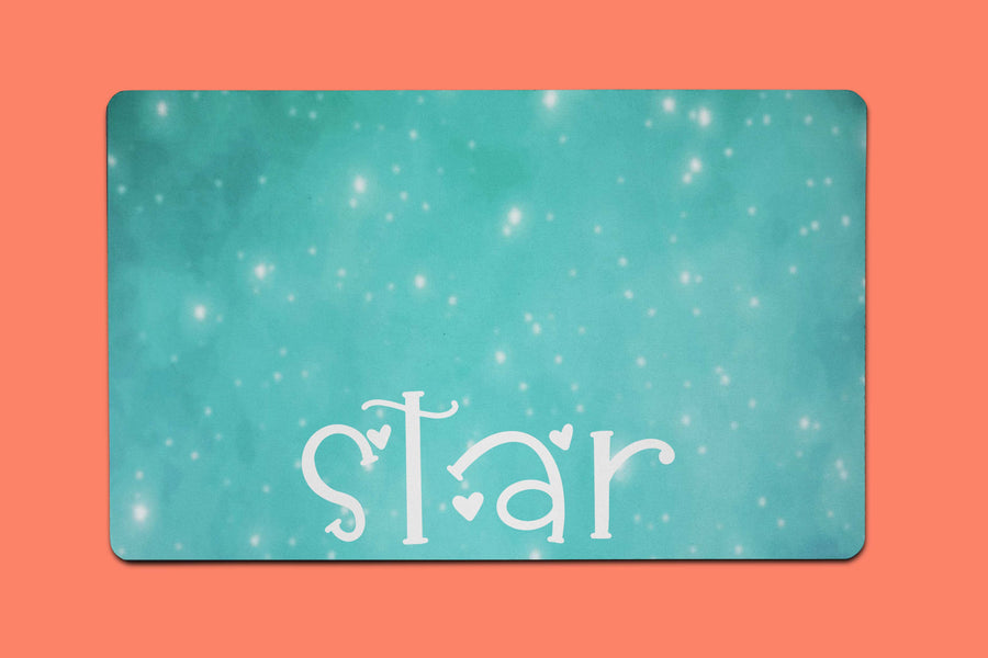 Star Watercolor Placemat