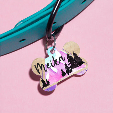 Triangle Forest Pet ID Tag - The Dapper Paw