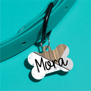 Criss Cross Marble Pet ID Tag - The Dapper Paw