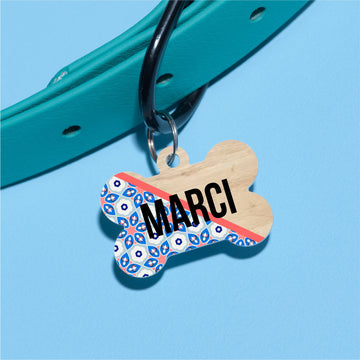 Spring Tile Pet ID Tag - The Dapper Paw