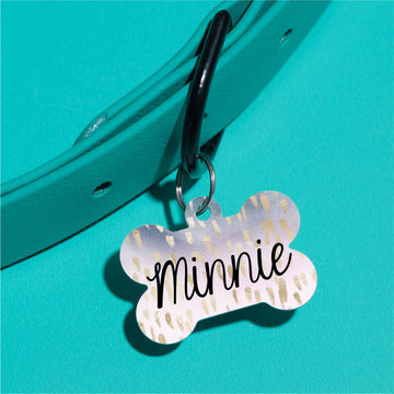 Gold Foil Fleck Pet ID Tag - The Dapper Paw