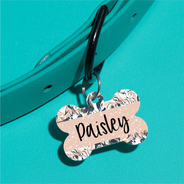 Painted Marble Pet ID Tag - The Dapper Paw