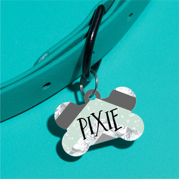 Mint Marble Pet ID Tag - The Dapper Paw