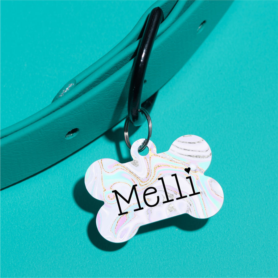 Unicorn Swirl Pet ID Tag - The Dapper Paw
