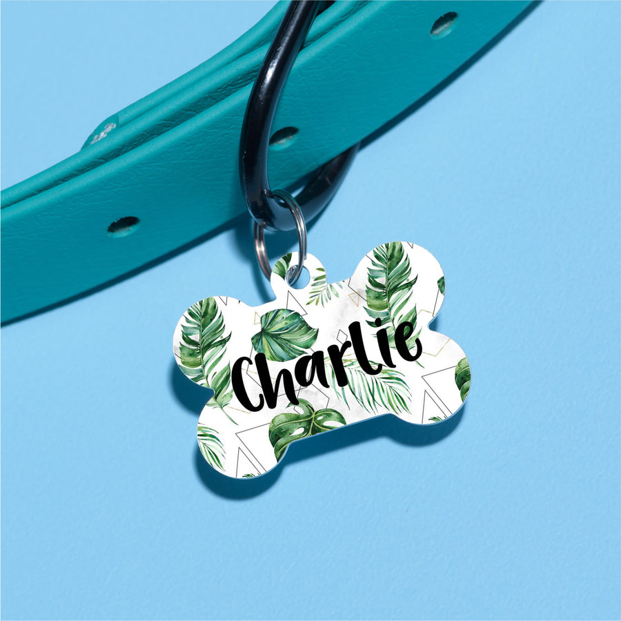 Hipster Palm Pet ID Tag - The Dapper Paw
