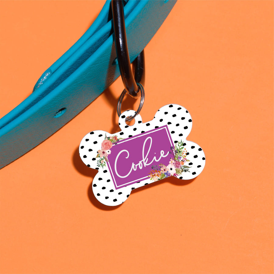 Tropical Floral Pet ID Tag - The Dapper Paw
