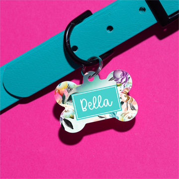 Ombre Floral Pet ID Tag - The Dapper Paw