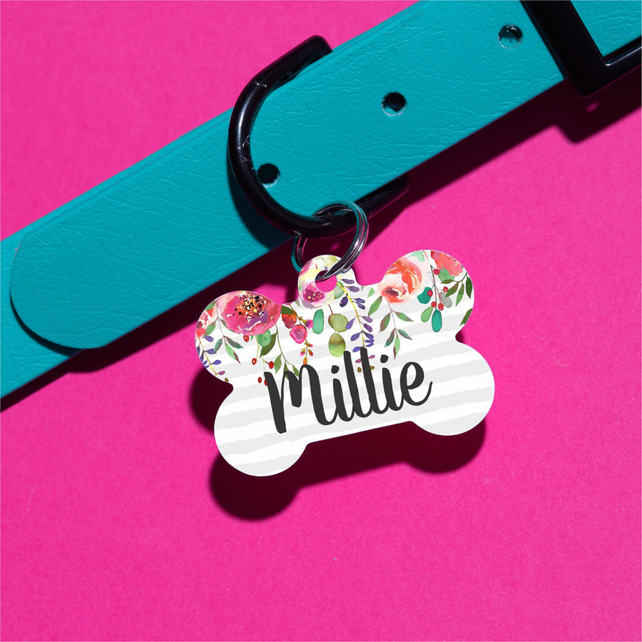 Floral Drop Pet ID Tag - The Dapper Paw