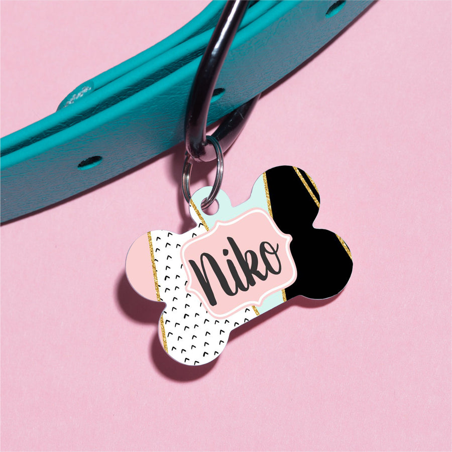 Modern Colorblock Pet ID Tag - The Dapper Paw