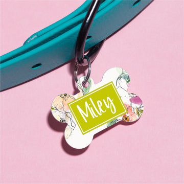 Clarita Floral Pet ID Tag - The Dapper Paw