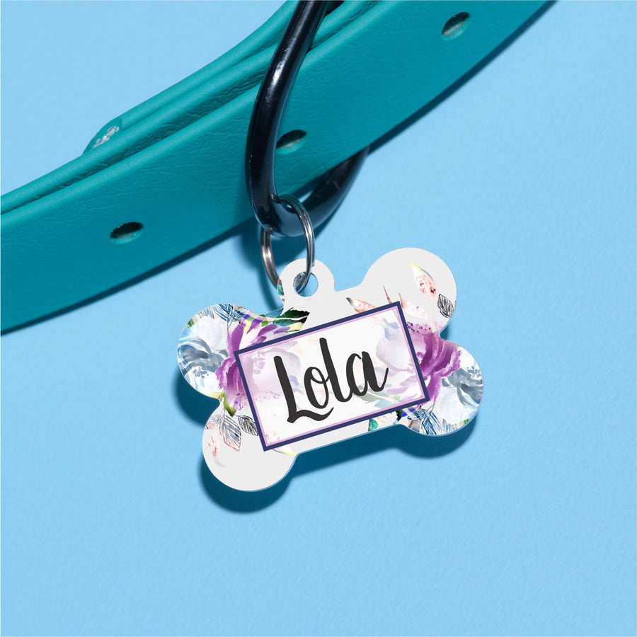 Ink Floral Pet ID Tag - The Dapper Paw