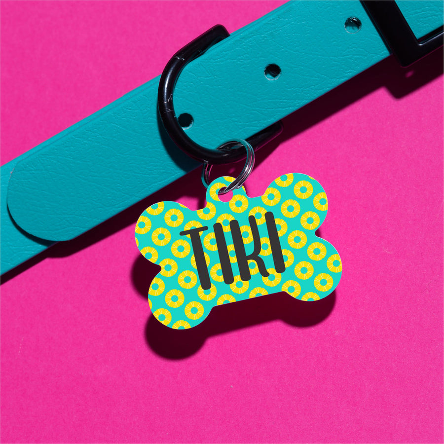 Pineapple Slices Pet ID Tag - The Dapper Paw