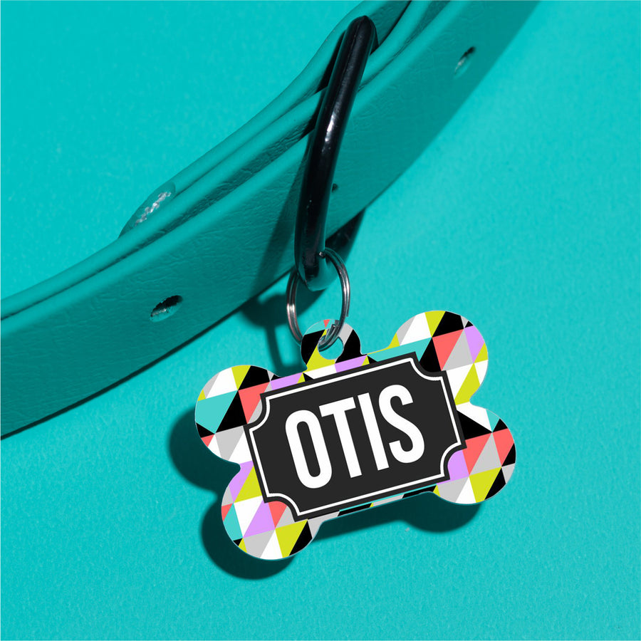 Bright Multi Triangle Pet ID Tag - The Dapper Paw