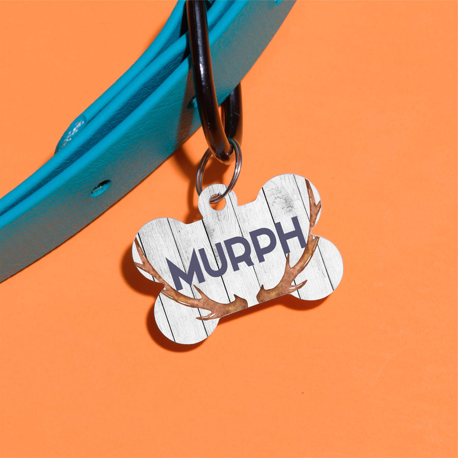 Just Another Antler Pet ID Tag - The Dapper Paw