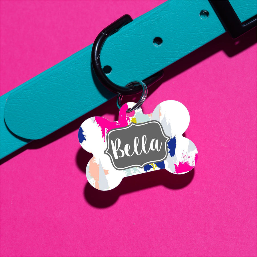 Painted Splotches Pet ID Tag - The Dapper Paw
