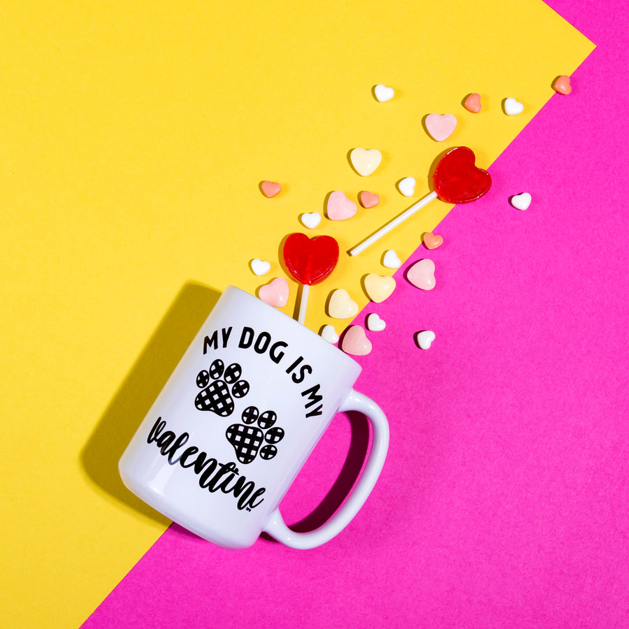 My Dog is My Valentine Coffee Mug - The Dapper Paw