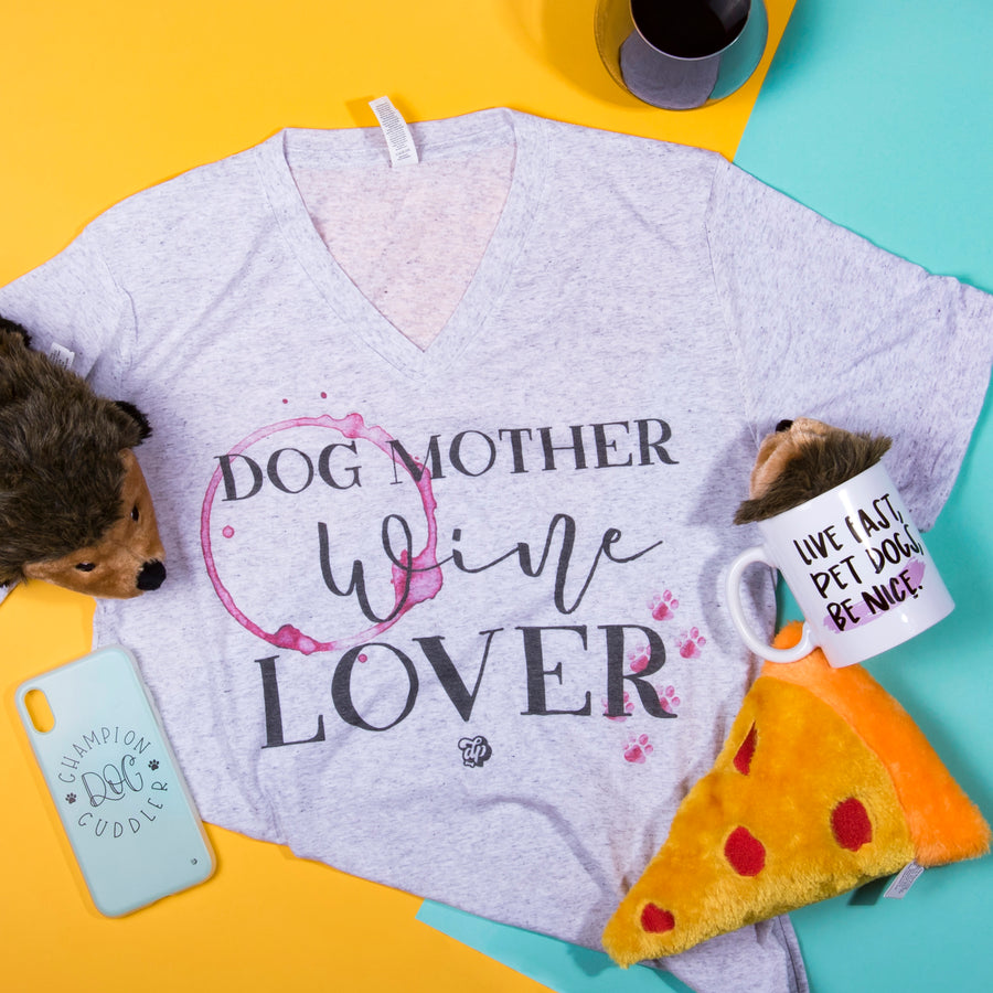 Dog Mother Wine Lover Tee - The Dapper Paw