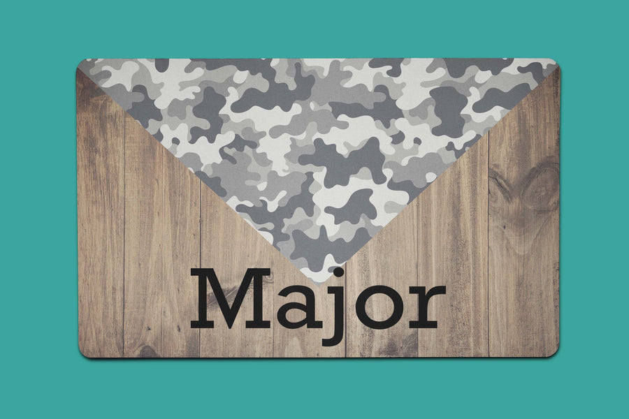 Tri Camo Placemat - The Dapper Paw