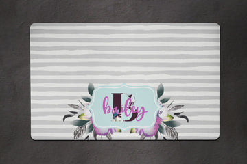 Watercolor Monogram Placemat - The Dapper Paw