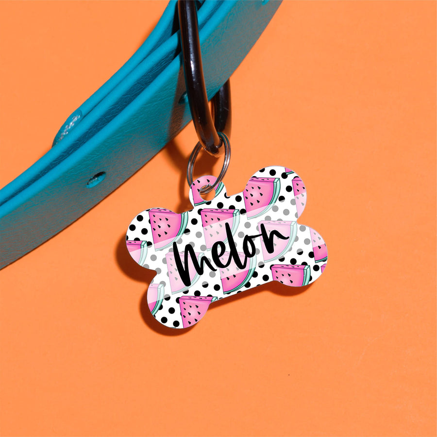 Watermelon Dots Pet ID Tag - The Dapper Paw