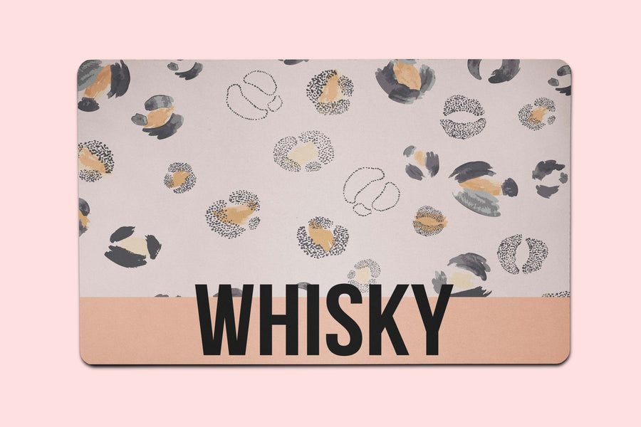 Whiskey Leopard Placemat - The Dapper Paw