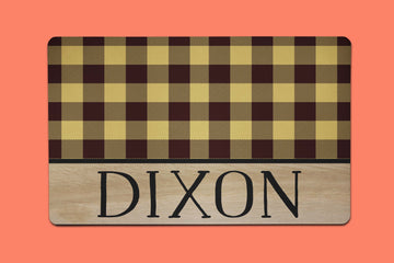 Yellow Dixon Plaid Placemat - The Dapper Paw