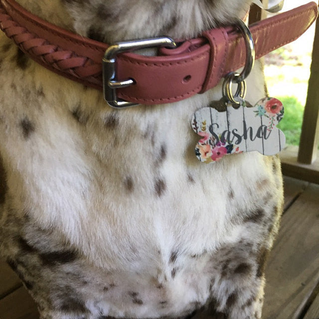 Watercolor Fall Floral Pet ID Tag - The Dapper Paw