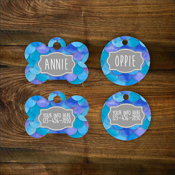 Mermaid (Blue) Pet ID Tag - The Dapper Paw