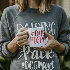 #Dogmom Watercolor Coffee Mug - The Dapper Paw